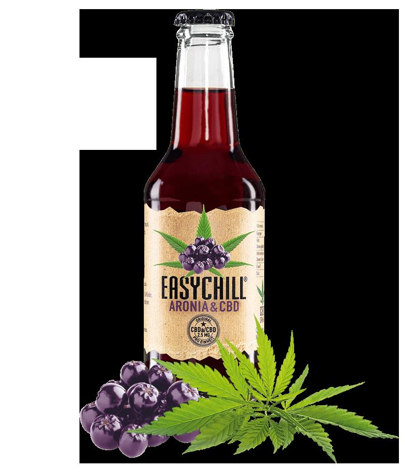 EasyChill CBD Drink mit Aronia Flasche